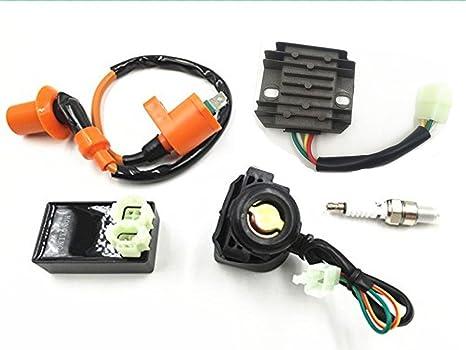 templehorse alto rendimiento Racing Gy6 regulador de voltaje rectificador relé Bujía Conector Cable Bobina de encendido