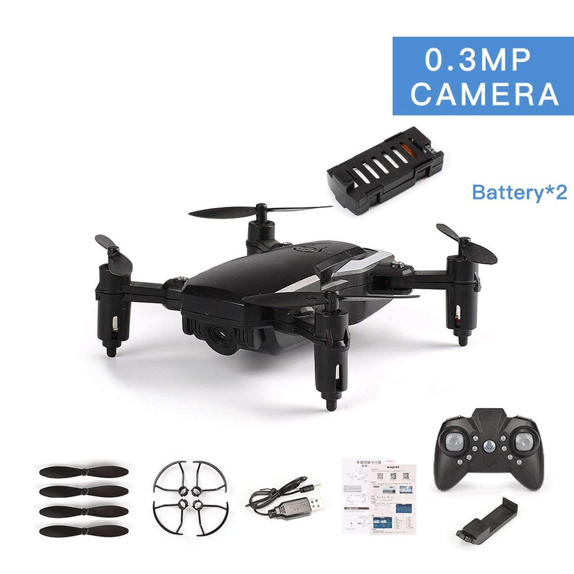 Funnyrunstore LF606 Doppio batterie Drone con Fotocamera 0.3MP FPV Quadcopter Pieghevole RC Droni HD Altitude Hold Mini Drone Bambini Giocattoli per Bambini