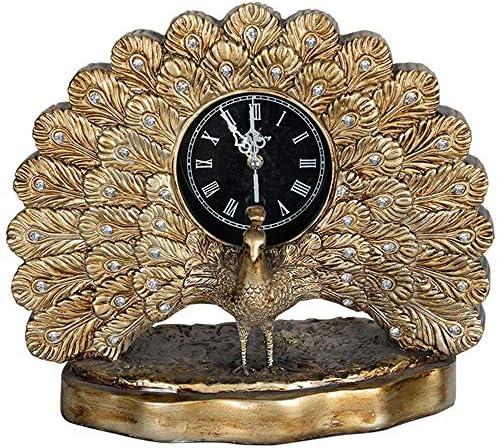クリエイティブ樹脂孔雀時計ヨーロッパのリビングルームの寝室中Lizhongホーム芸術的装飾装飾品 作りがいい