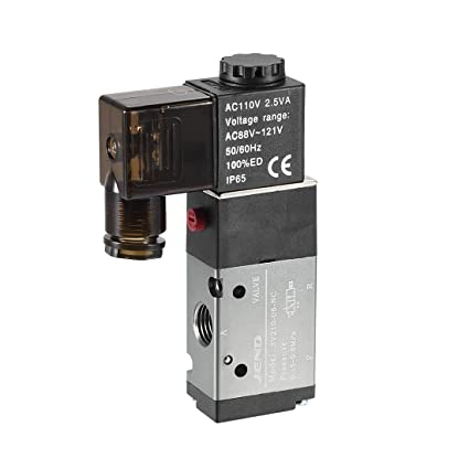 Pneumatic air Solenoid Valve AC 110V 5 Way 3 Positions 1//2 inch PT 4V430C-15 Double Electric Control Internally piloted Action Type red Light