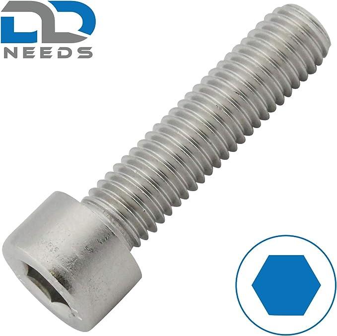 VPE: 20 St/ück Linsenkopfschrauben D2D Flachkopfschrauben M5 x 20 mm mit Innensechskant ISO 7380-1 aus Edelstahl A2 V2A