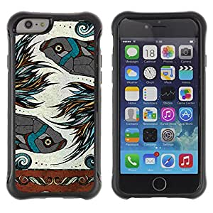 Hybrid Anti-Shock Defend Case for Apple iPhone 6 4.7 Inch / Beautiful Zodiac Sign Fish