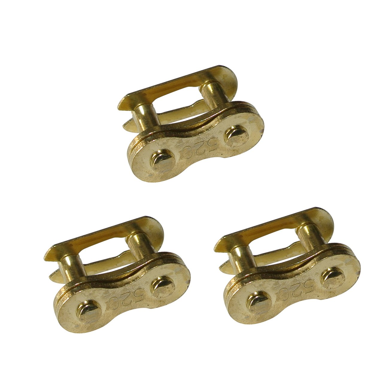 JRL 3pcs Gold 520 Chain Master Link Fit Suzuki Rm125 250 450 Drz400 ATV Quad Go Kart