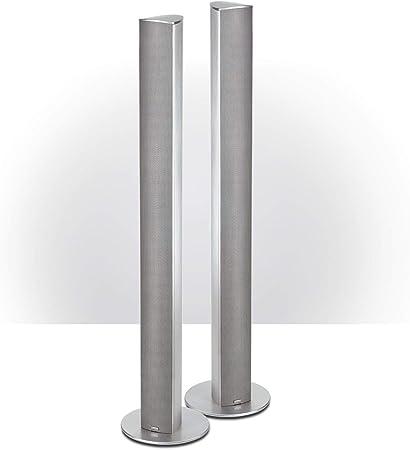 Magnat 158 905 - Pack de 2 altavoces de suelo (2 vías, 4 ohmnios, 400 Hz), plata
