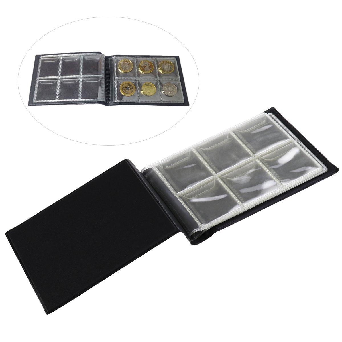 NUOLUX 60 monedas Colección de monederos para álbumes ...