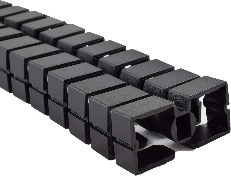 Negro Gu/ía de cables cuadrada Kuba Slim Line 1260 mm. Longitud