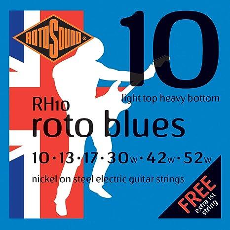 Rotosound RH10 - Juego de cuerdas para guitarra eléctrica de níquel