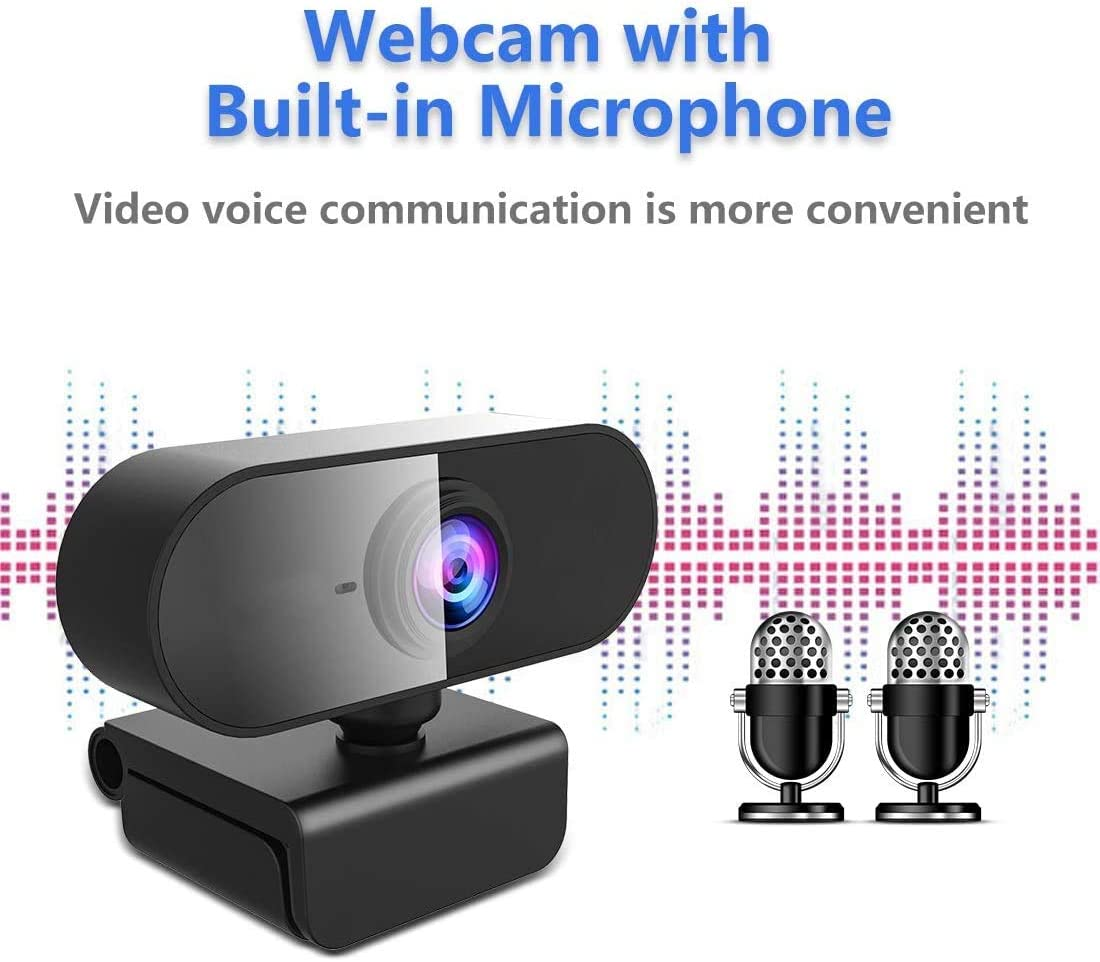 Studio online Videochiamate e Conferenze 1080p HD Webcam Streaming Computer Web Camera EDUPUP Webcam con microfono Auto Focus Plug and Play USB Computer Camera per laptop//PC//Mac
