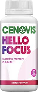 Cenovis Hello Focus - Support mental focus and concentration - Support energy levels, 60 Tablets