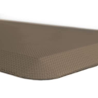 Sky Mat, Kitchen Mat, Anti Fatigue Mat 20 x 32 x 3/4 , 7 Colors and 3 Sizes, Perfect for Kitchens and Standing Desks, (Brown)