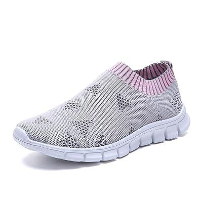 BaZhaHei Zapatillas de Mujer Ocio Malla al Aire Libre Cordones ...
