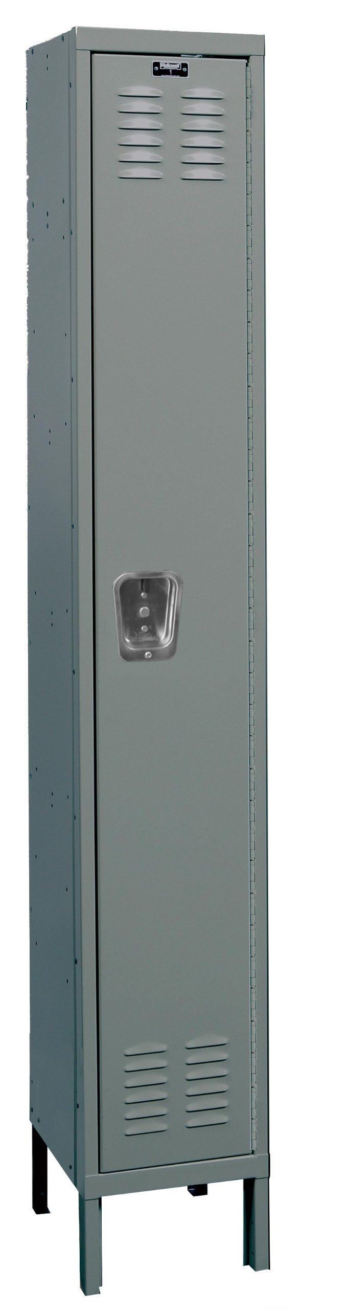 Hallowell U1818-1HG Premium Locker, 18'' Width x 21'' Depth x 78'' Height, Single Tier, 1-Wide, Knock-Down, 725 Gray