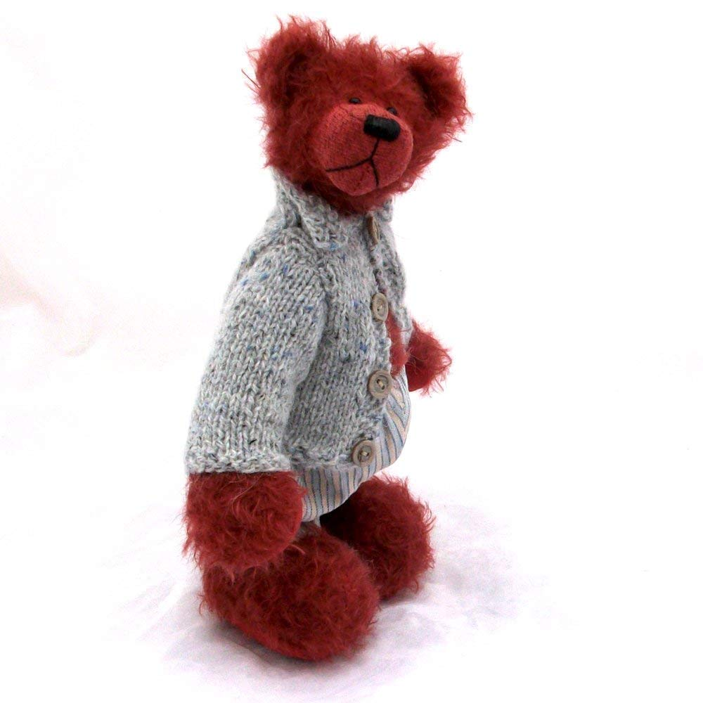 Chambord Teddy Bear Steiff Schulte Raspberry Ratinee Mohair Artist Collectable OOAK 10 inches