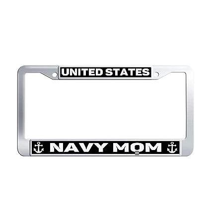 Amazon.com: U.S. Navy License Plate Frames Custom, 2 Holes Slim ...