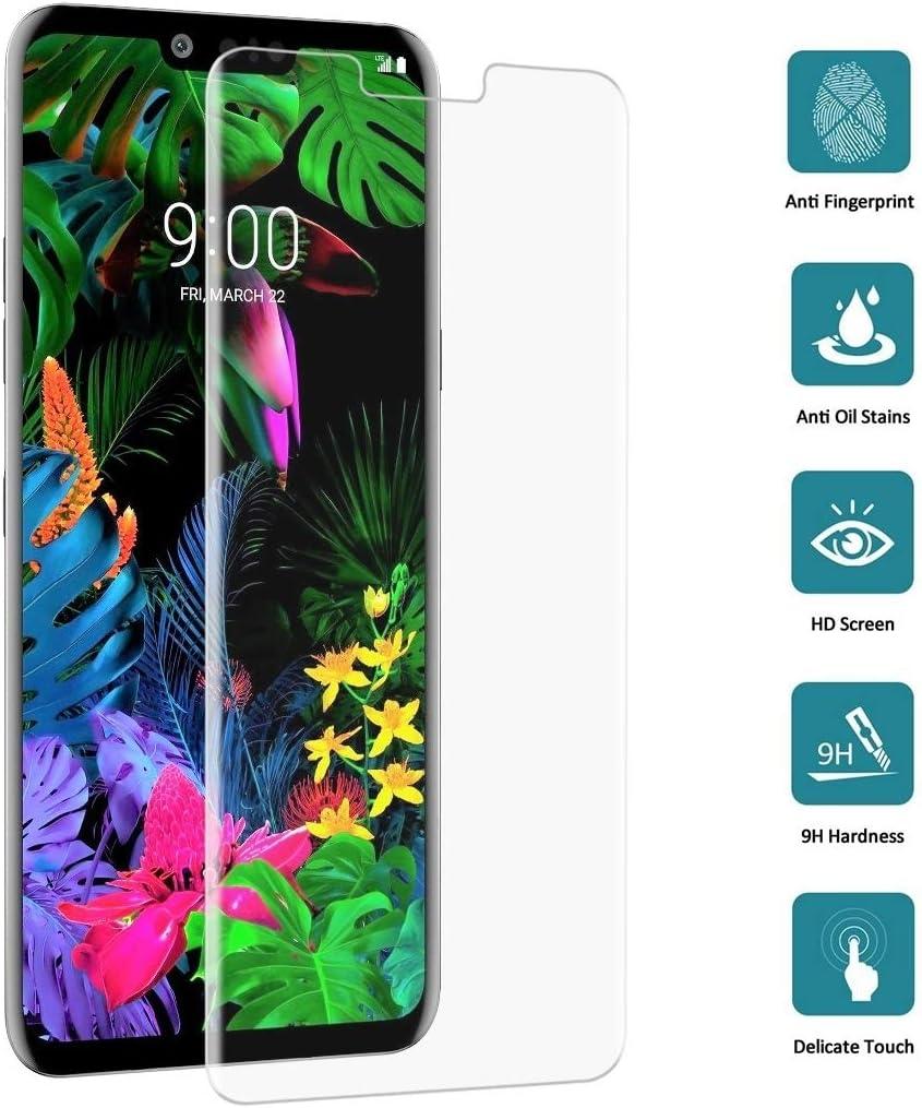 GUOHUN Screen Protector Protective 25 PCS 9H 3D Transparent Full Screen Tempered Glass Film for LG G8 ThinQ Transparent Glass Film