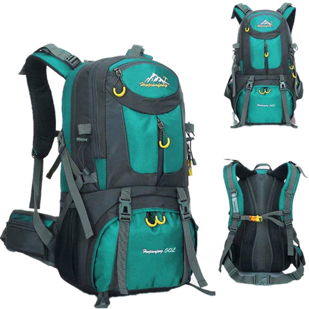 COUTUDI Unisex Biking Camping Hunting Backpack Anti Theft Waterproof Nylon Casual Multifunctional Bag (Orange)