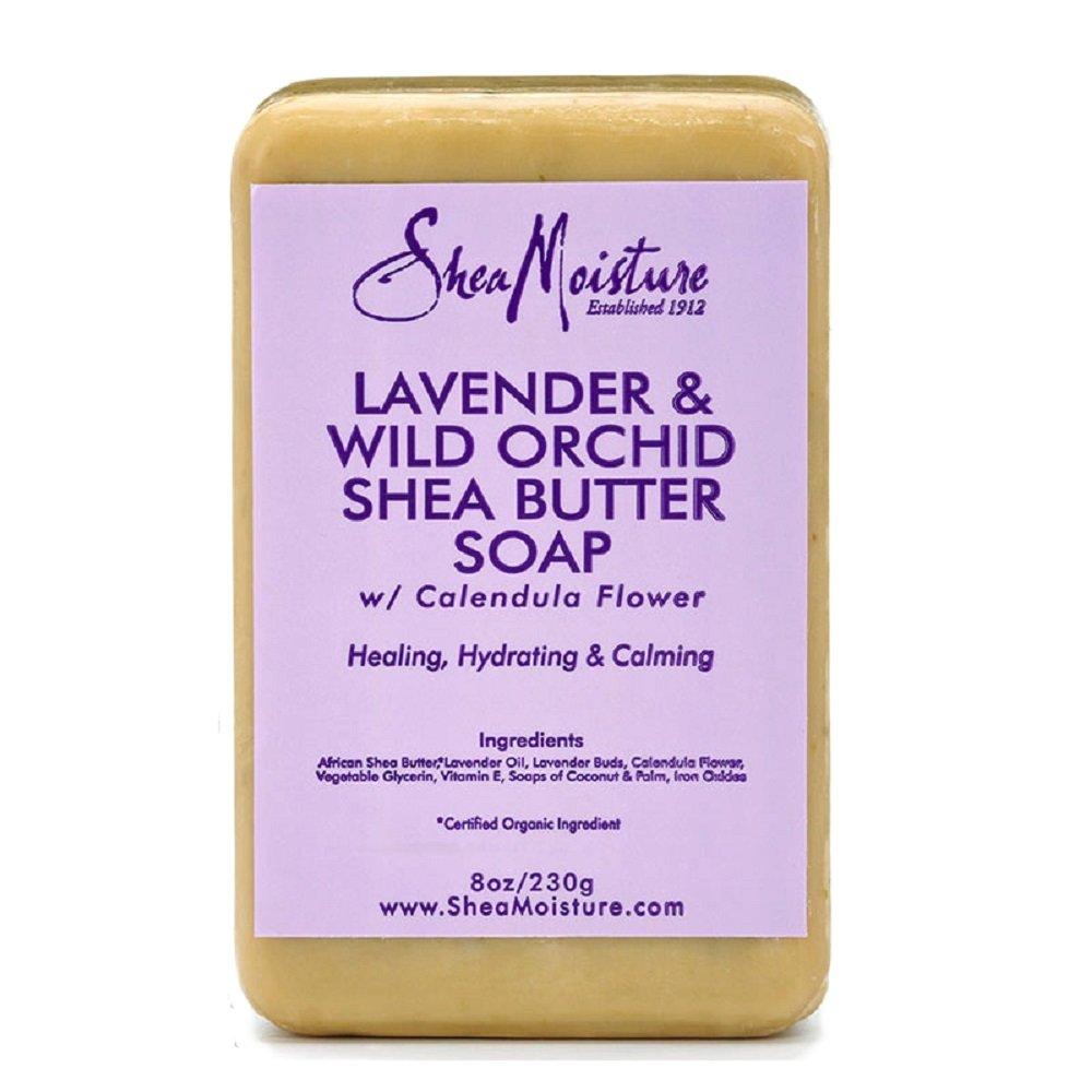Shea Moisture Lavender & Wild Orchid Shea Butter Soap, 237g U-BB-2707