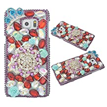 KAKA(TM) 3D Handmade Rhinestone Coloful Crystal Hard Case Cover Flower Cluster Pattern Cell-phone Case For Samsung Galaxy S5 Mini