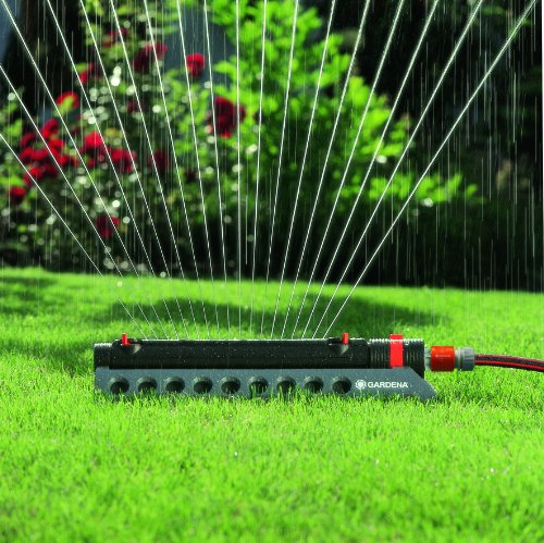 GARDENA 1975 Aquazoom 3900-Square Foot Oscillating Sprinkler with Fully Adjustable Width Control