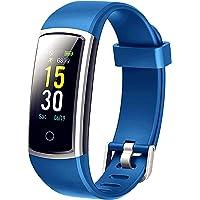 Lintelek Fitness Armband mit Blutdruckmessung Smartwatch Fitness Tracker mit Pulsmesser Wasserdicht IP68 Fitness Uhr Pulsuhr Schrittzähler Uhr Anruf SMS