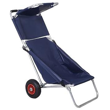 costway 3 in1 plegable carro portátil carro de playa Silla ...