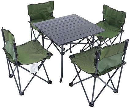 LNLW Portátil Mesa Plegable y sillas Fuera de la Mesa y sillas de ...