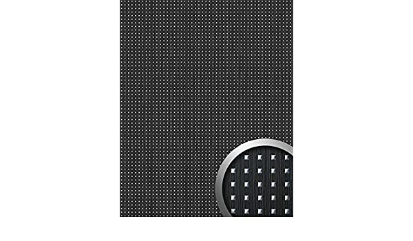 3D QUAD revestimiento mural autoadhesivo diseño cuadrados WallFace 12549 perforados y hoja base madera negra plata 2,6m2: Amazon.es: Bricolaje y ...
