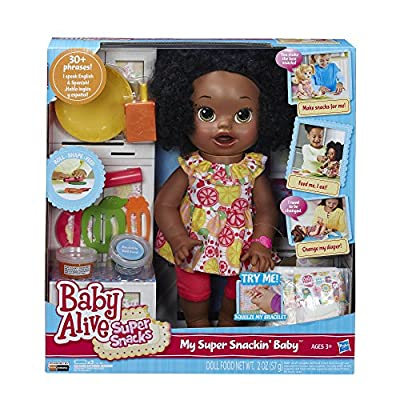 Baby Alive Super Snacks Snackin' Sara African American: Toys & Games
