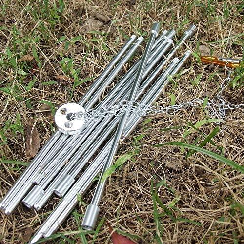 BBQ Grill Treppiede Campeggio da Campeggio con Supporto per falò da Campeggio PIC-nic Strumento per pentole, Prodotto per Esterno
