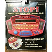 1998 Tiger Electronics Handheld STOP! JUEGO DE PALABRAS DE LLENAR EN EL ESPACIO EN BLANCO