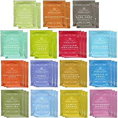 Harney & Sons - 40 Count Assorted Tea Bag Sampler - with By The Cup Honey Stix from Harney & Sons