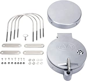 """AA Products Universal Conduit Carrier Kit Fit 6"""" PVC Pipe, No Drilling Required, Silver"""