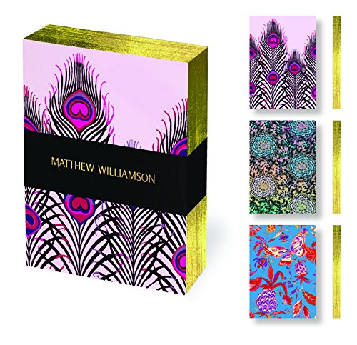 Museums & Galleries (MUT38) Matthew Williamson Deluxe Mini Notebook Set, Feathers and - Williamson Matthew
