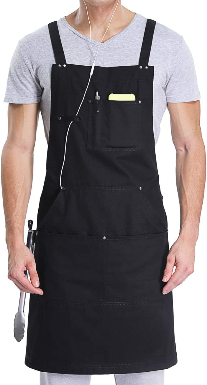 white stripes garden work Can be personalized wood working cooking Green Great for grilling Carnivore Chef Apron For Raw Feeders