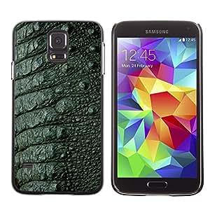 Qstar Arte & diseño plástico duro Fundas Cover Cubre Hard Case Cover para SAMSUNG Galaxy S5 V / i9600 / SM-G900F / SM-G900M / SM-G900A / SM-G900T / SM-G900W8 ( Skin Texture Design Style Green Interior)