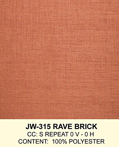 401 Brick (Hospitality Rattan 401-1365-TCA-L Cancun Palm Upholstered Rattan & Wicker Loveseat, Rave Brick)