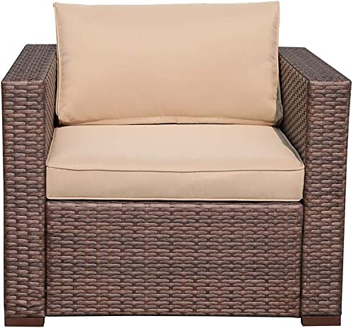 Patiorama Single Sofa Chair All Weather Outdoor Patio Armchair