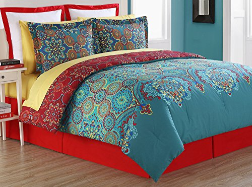 Terra Reversible 200TC Cotton Comforter Set by Fiesta Bedding