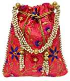 Wedding Women Purse Party Designer Bridal Clutch / Jewelry Pouch / Indian Evening Potli Handbag