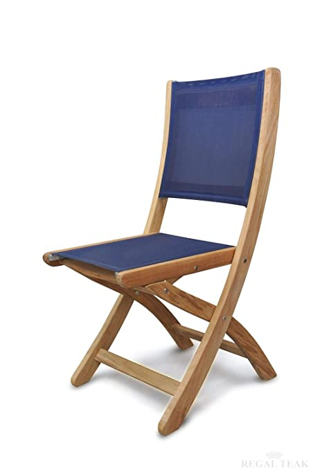 Eco Friendly Furnishings Set Of 2 Natural Teak Providence Outdoor Patio  Folding Dining Chairs With