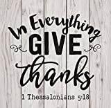 Cheap P. GRAHAM DUNN in Everything Give Thanks White Wash 18 x 17 Inch Solid Pine Wood Pallet Wall Plaque Sign
