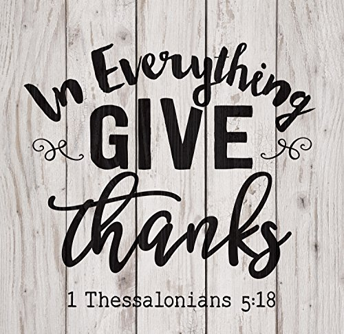 P. GRAHAM DUNN in Everything Give Thanks White Wash 18 x 17 Inch Solid Pine Wood Pallet Wall Plaque Sign -