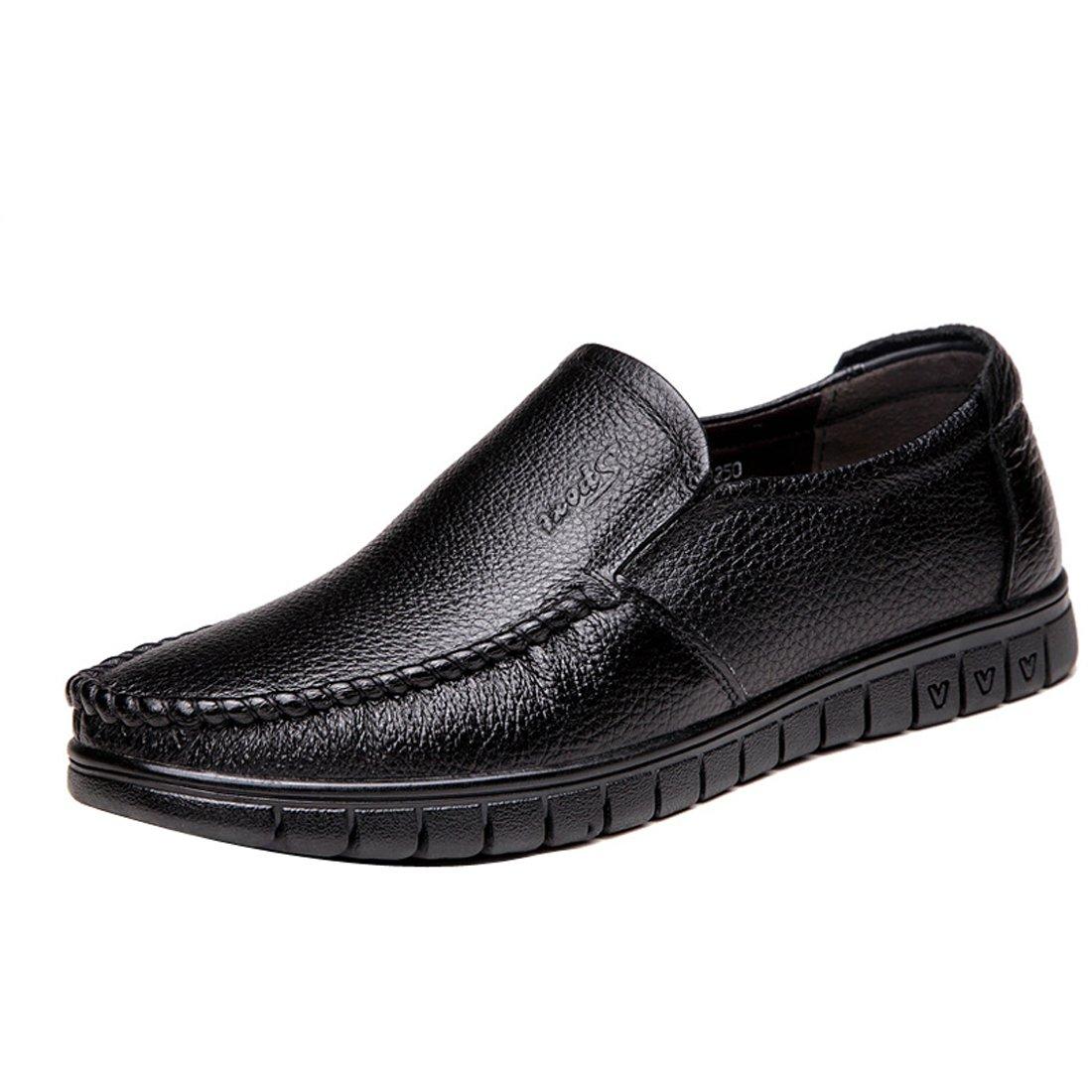 Gaorui Fashion Men Slip On Business Casual Shoe Faux Leather Moccasins Antislip Loafers