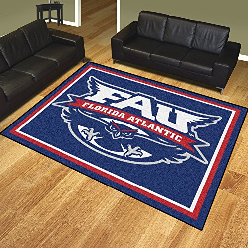 Fan Mats 20161 Florida Atlantic University Owls 8' x 10' Area Rug ()