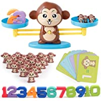 Mumoo Bear Monkey Number Balance Math Games Preschool Educational Toys Early Math Teaching Tool Counting Toy