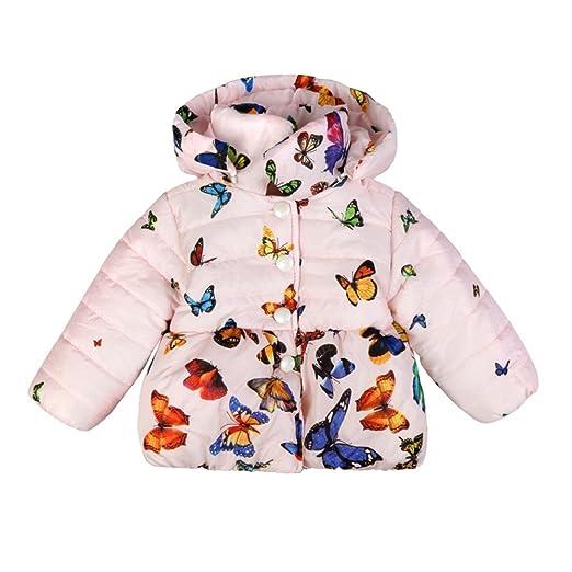 19b28ea21 Amazon.com  Jlong Baby Girls Boy Winter Warm Printed Butterfly Long ...