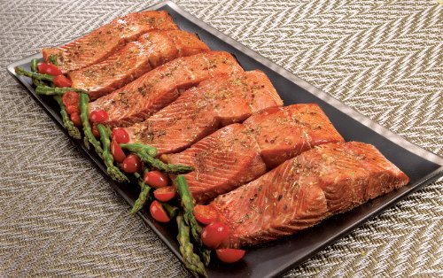 Wild Alaskan Sockeye Salmon: 6 Oz Dinner Fillets (Six 6 oz dinner fillets) (Salmon Sushi)