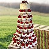 Efavormart 8 Tier HEAVY DUTY Acrylic Crystal Cupcake Dessert Stand For Wedding Birthday Party Dessert Cupcake Pedestal Display