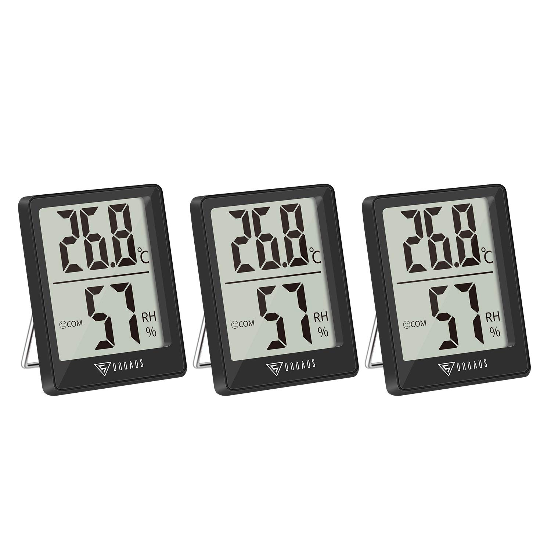 DOQAUS Digital Hygrometer Innen, 16 Stück Thermo-Hygrometer Innen