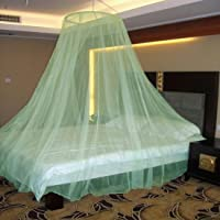 Neruti Enterprise Nylon Adults Double Bed (Round-Canopy) Mosquito Net(Green)